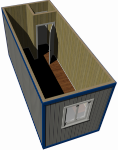 Блок-контейнер — тип «Торцевой» 6x2,4 (вагонка ПВХ)